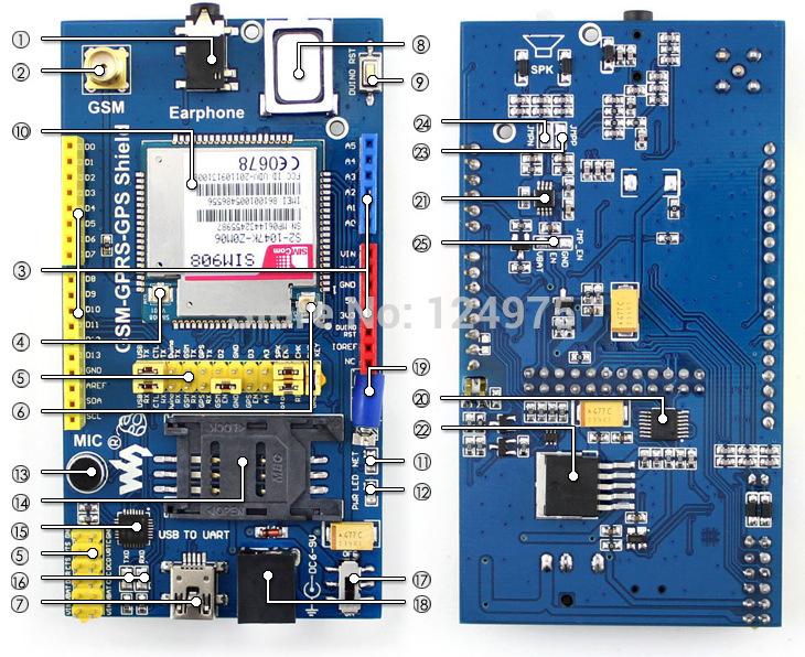 GPRS/GSM Shield v10 - Elecrow