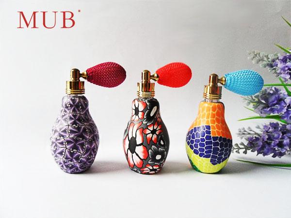 20ML 3Pcs/Lot Red Flowers Parfum Colorful Airbag Atomizer bottles spray Refillable Perfume Bottles 20ml(China (Mainland))
