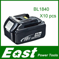 East Spare parts Rechargeable batteries for Makita BL1840 LXT Lithium Ion 4.0 Ah Battery power tool 10PCS