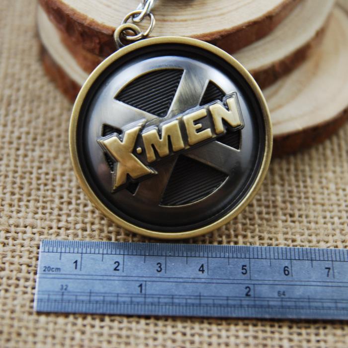 X-Men Keychain Metal Figure Pendant Key Chain Ring Marvel Comic Xmen Movie Keyring Accessories(China (Mainland))