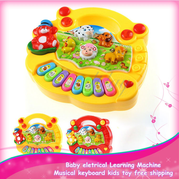 Best selling baby electrical Learning Machine toy musical baby educational toy musical keyboard kids toy free shipping(China (Mainland))
