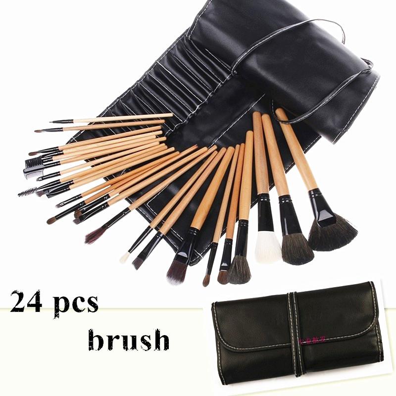 24 pcs/set makeup brushes Eyebrow Brush Set tools Cosmetic Brand MakeUp Brush kit Maquiagem makeup tools free shipping(China (Mainland))
