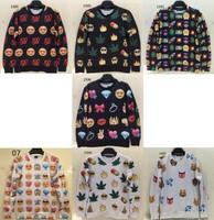 [Magic] Europe and America Hot Face/Tree/Animal emoji print casual sweatshirts women 3d sweatshirt round hoodie 14 models free