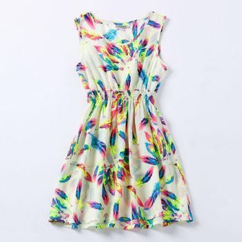 2015 свободного покроя платье свадебные платья тропический отпечатано чешский рукавов Roupas Femininas одежда лето женщины платье свадебные платья ренда
