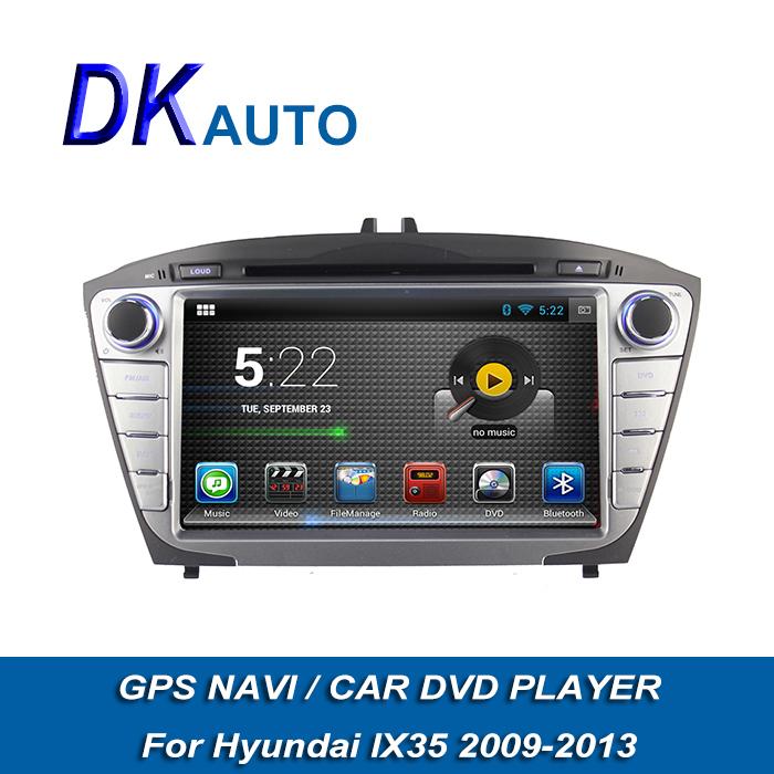 Car Radio Player For Hyundai ix35 2009-2013 Pure Android 2 Din 7 Inch DDR3 1G Memory 8G Car Stereo GPS Navi Wifi Music USB Video(China (Mainland))