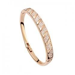 Браслет браслеты для женщины 18 K золото / серебро плита полный из горный хрусталь ...