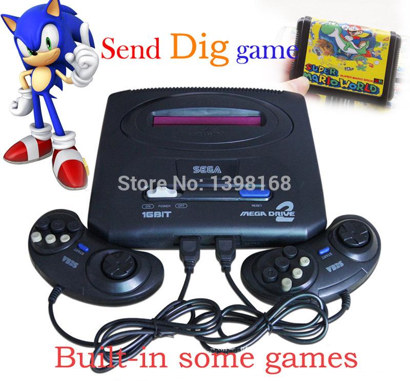 Sega megadrive 2 Video Game Console Classic Card,16 Bit Game Consoles Sega MD 2, Sega Genesis Handheld Game Player Console!!!(China (Mainland))