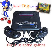 Sega megadrive 2 Console de jeu vidéo classique carte, 16 bocado Consoles de jeux Sega MD 2, Sega Genesis Console de jeu portable joueur(China (Mainland))