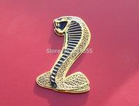 Cobra Snake Metal Emblem Badge for car, blister packing,Free shipping Global