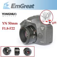 Pre Order Original YONGNUO YN 50mm YN50mm Lens F1.8 Large Aperture Auto Focus Lens for Canon EOS 5D2 5D3 650D 600D DSLR Cameras