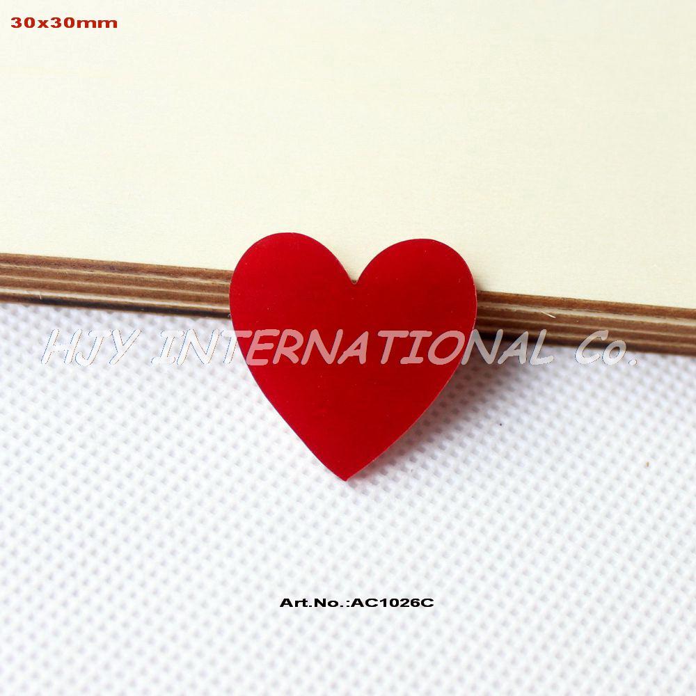 60pcs lot Red Acrylic Necklace Scrapbooking Love Acrylic Laser Cut AC1026C