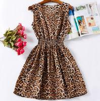 2015 Spring Women Casual Dress Leopard Florial Print Bohemian Roupas Femininas Vestidos De Renda Tropical Clothing Summer Dress