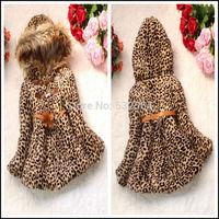 Children Girl Coat Kids Child Leopard Outerwear Faux Fur Coats Jackets For Girls Autumn Winter