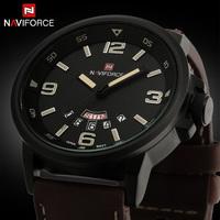 relogio masculino 2015 Luxury Brand Genuine Leather Analog Display Date Men's Quartz Watch Sports Watches Men Wristwatch