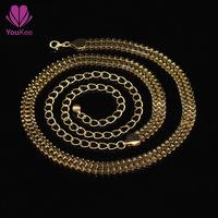 News queen spring gold chain belts for women 110cm long belly bright waist chain belts free cintos femininos