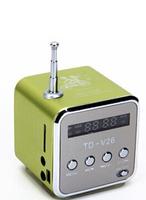 30pcs/lot upgraded mini speaker JH-MD07D  TF card speaker FM+card reader with retail box