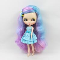 Bjd 1/6 b female Cute DIY Nude doll Blyth big eyes doll multi-color long hair side bangs modified  bjd dolls for sale
