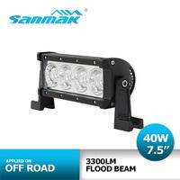 7.5 inch 40W led light car suv 4x4 offroad bar for ATV Truck Tractor Driving 12v 24v  Flood 3300 Lm