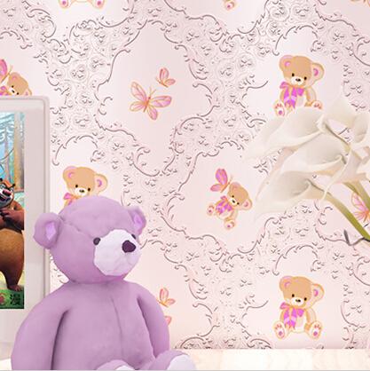 Online kopen wholesale roze beer wallpaper uit china roze beer wallpaper groothandel - Deco romantische ouderlijke kamer ...