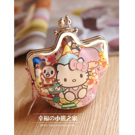 0 hello kitty cute cartoon ladies purse coin bag fashion change folder(China (Mainland))
