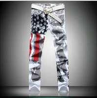 New men jeans,Painted Print jeans, Fashion jeans men calca jeans dsq 100% cotton men trousers hot sell