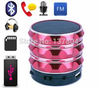 Bluetooth Speaker Mini USB Flash Disk Sound Card Multi-Function Aluminum Portable Wileress Speaker With FM Radio MP3 Player
