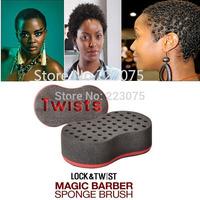 Magic hair twist sponge Locks Curl  Brush  starts dreads& texture  afro styling tools coil curler natural wigs braid  2pcs/lot