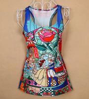 Free shippingwomen t shirt o-neck Fashion vest 3d t shirt , summer new 3D printed t-shirts for women Dropshipping XY139