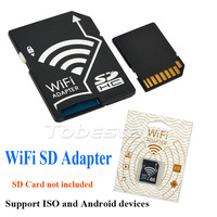 20pcs High Speed Wifi SD Card Adapter Wi-Fi Wireless Micro SDHC TF Flash Card to SD Card Share Adapter for IOS Android