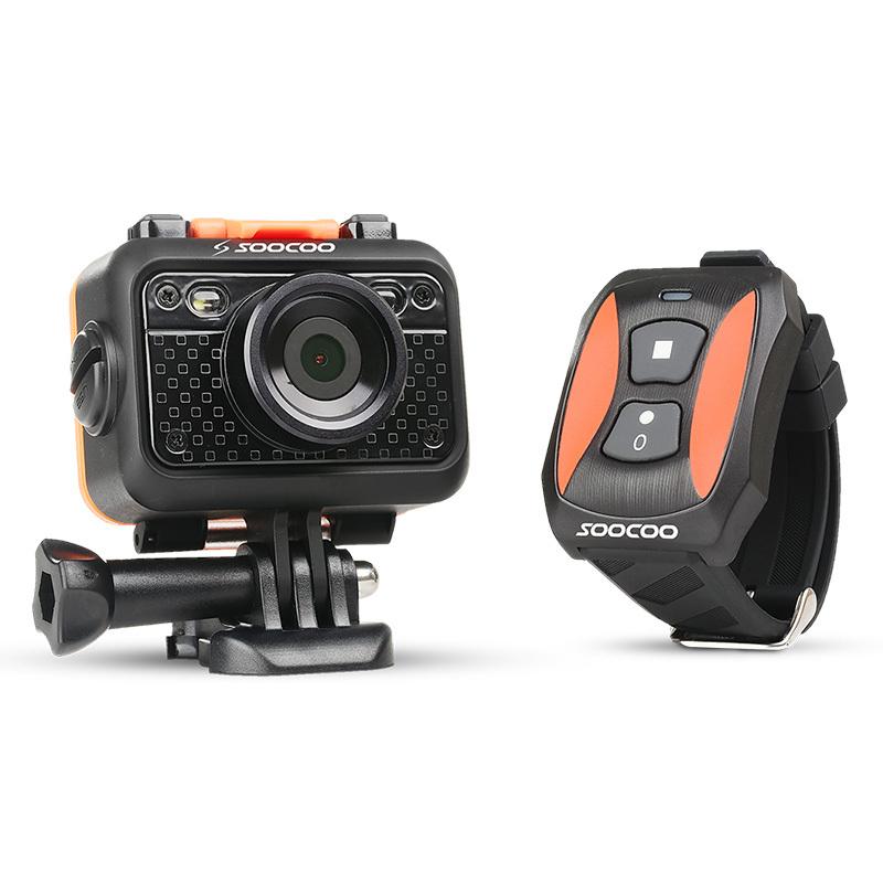 2015 SOOCOO S60 спорт действий видеокамера водонепроницаемый защитой от сотрясений 170 град. широкий угол WiFi 1.5