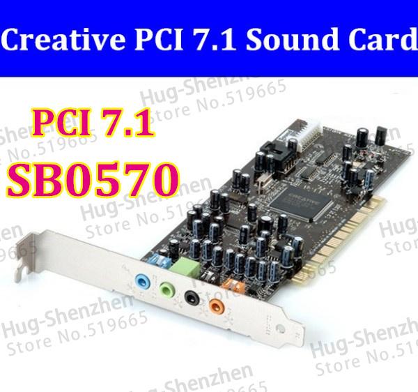 Free Shipping CREATIVE LABS SOUND CARD BLASTER SB0570 PCI 7.1 sound card PCI Sound Blaster Audigy SE Sound Card SB 0570(China (Mainland))