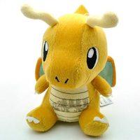 "Size 6""-12""Pokemon Plush Toy 1pc/lot Pokemon Soft dragon Plush Doll Dragonite Japan Anime Educational Toy Baby Toy Free Shipping"