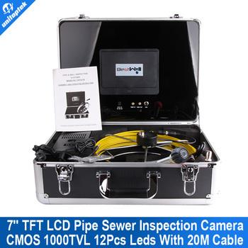 20 м кабель стекловолокна 7 '' TFT LCD водонепроницаемый дренажной трубы ...