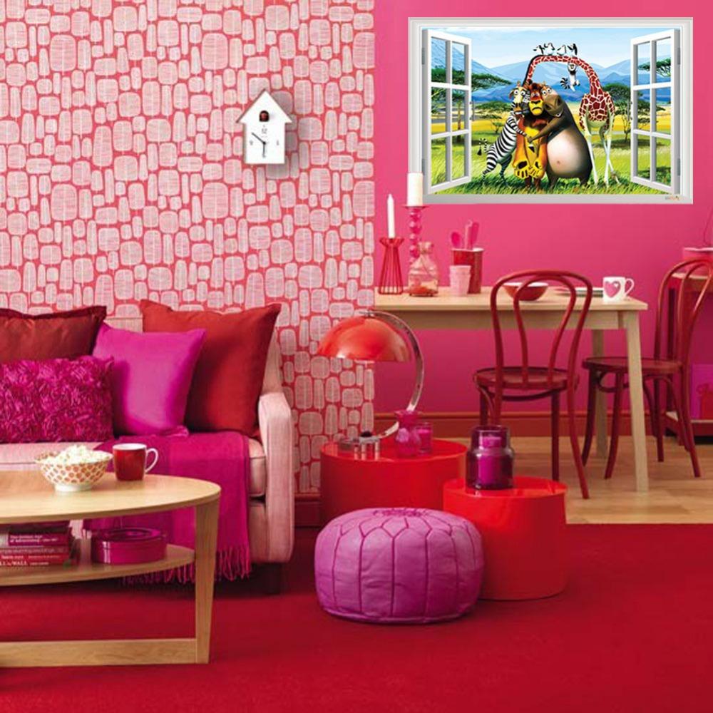 Nieuwe 3d cartoon muurstickers home decor muursticker decals voor kinderen kinderen kamers - Idee deco kamer kleine jongen ...