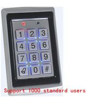 rfid lock system door Support 1000 standard users Metal Password Keypad RFID Card Door Access Controller   with English Manual