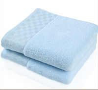 2pcs/lot cotton towels bathroom accessories untwisted toallas jacquard sateen embroidered 34*76 home textile products face towel