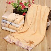 2pcs/lot Cotton towels bathroom towel face care accessories lace floral delicate edged 34*64cm home textile products toalhas