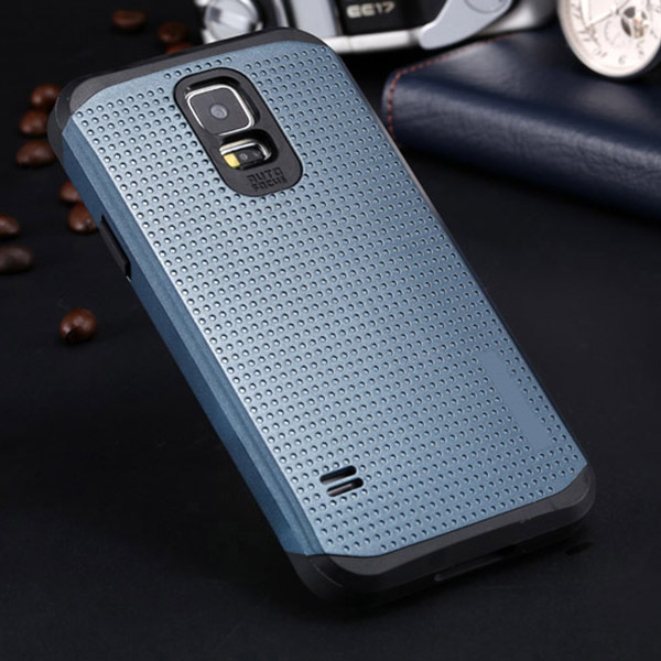 For S5 Top Quality Luxury Slim Cool Armor Back Case For Samsung Galaxy S5 i9600 Dual Layer Super Protect Phone Covers With Logo(China (Mainland))