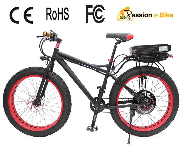 "Passion ebike European canada USA 48V 1000W 26"" x 4.9 aluminum frame Electric cheap fat tire bike / electric fat bike(China (Mainland))"