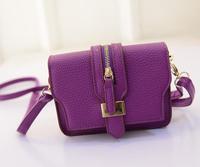 New 2015 Small Cute Women Messenger Bag Candy Color Bags Zipper Flap Bag Brand Women Shoulder Bag Satchel Handbag Corssbody Bag