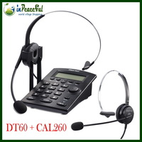 Free Shipping Original 100% Hion Brand New Call center Caller ID telephone dial pad  DT-60 with RJ11 monaural headset CAL260