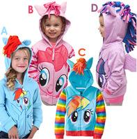 Girls My little pony Kids Jacket Children's Coat Cute Girls Coat & Hoodies & Girls Jacket Children Clothing Cartoon