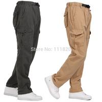 2015 Mens Tactical Pants Casual Military Army Cargo Camo Combat Work Pants Men jogger pants drop crotch pants for men Overalls