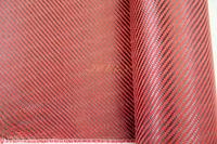 Free Shipping Carbon 3K Aramid 1500D Fiber 2/2 Twill Woven Hybrid Fabric 195g/m2 ORANGE Yarn Weave Cloth