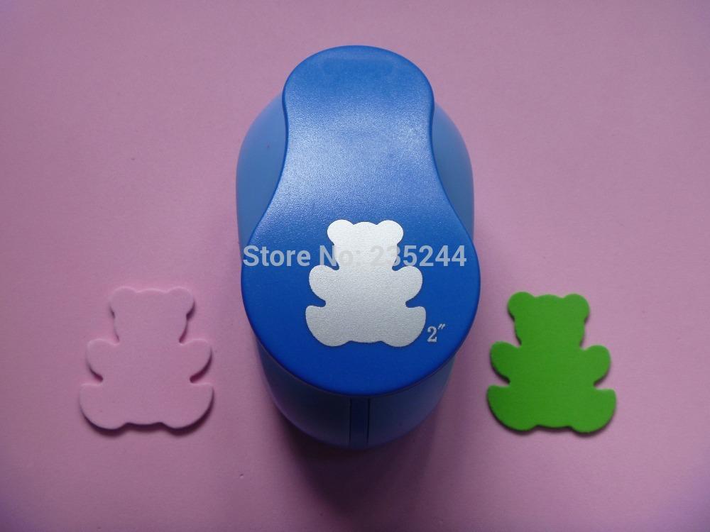 "free shipping 2""(5.0cm) bear EVA foam punch paper punch for greeting card handmade ,Scrapbook Handmade(China (Mainland))"