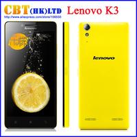 Original Lenovo K30-T K3 K30-W Android 4.4 Qualcomm MSM8916 64bit Quad Core mobile phone 1GB RAM 16G ROM 5.0'' Russian language