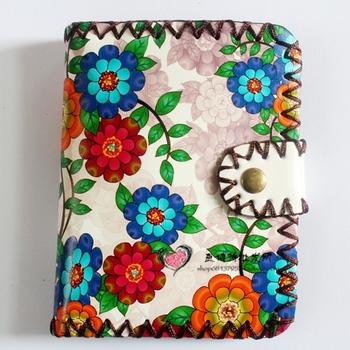Короткие бумажник! прекрасный цветной печать портмоне, высокое качество Кожа PU является ...
