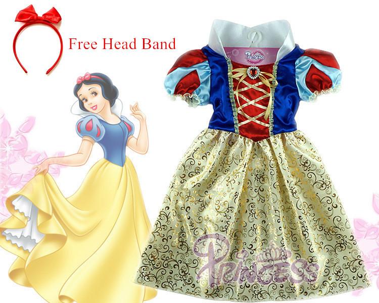 Snow white Dress kids infant party dress girls costume child vestidos infantil de festa meninas Blancanieve fantasia de princesa(China (Mainland))
