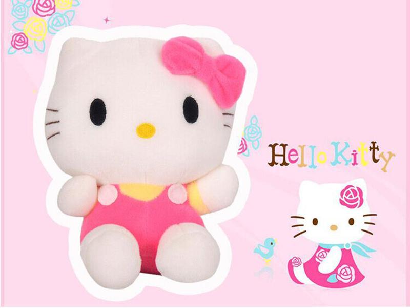 Free shipping 25cm/piece mini plush toys hello kitty plush toys stuffed animals kids toys cheap toys birthday gift(China (Mainland))