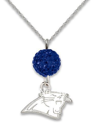 New listingFree shipping Carolina Panthers rhodium Sport pendant Necklaces for women(China (Mainland))